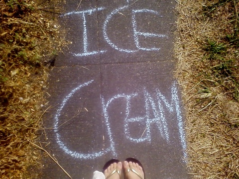 ice cream sidewalk