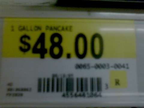 1 gallon pancake