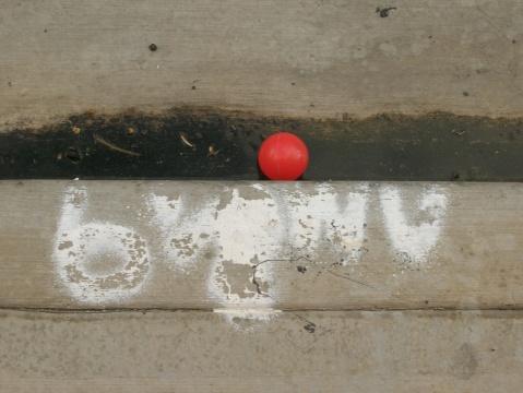 red ball and sidewalk hawaii 09