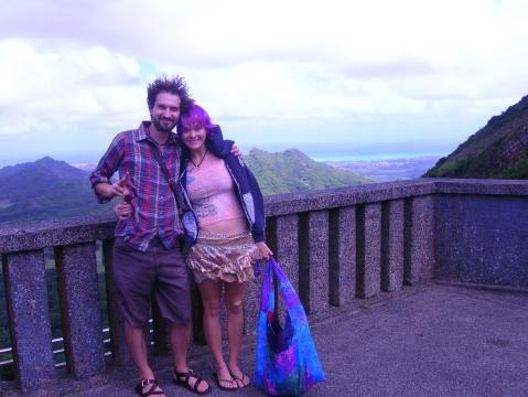 tab and alain at pali hawaii 09