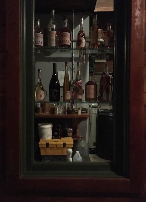 hallway bottle closet